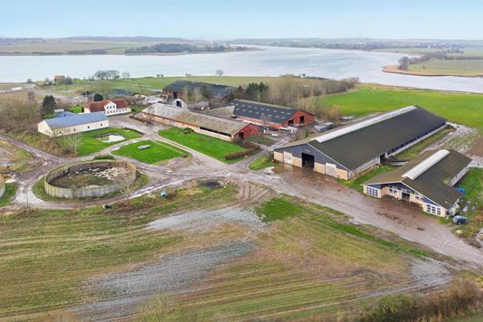 Kvæggård på Ørbyhage i Haderslev - Luftfoto