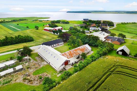 Planteavlsgård på Hovsørvej i Thisted - Luftfoto