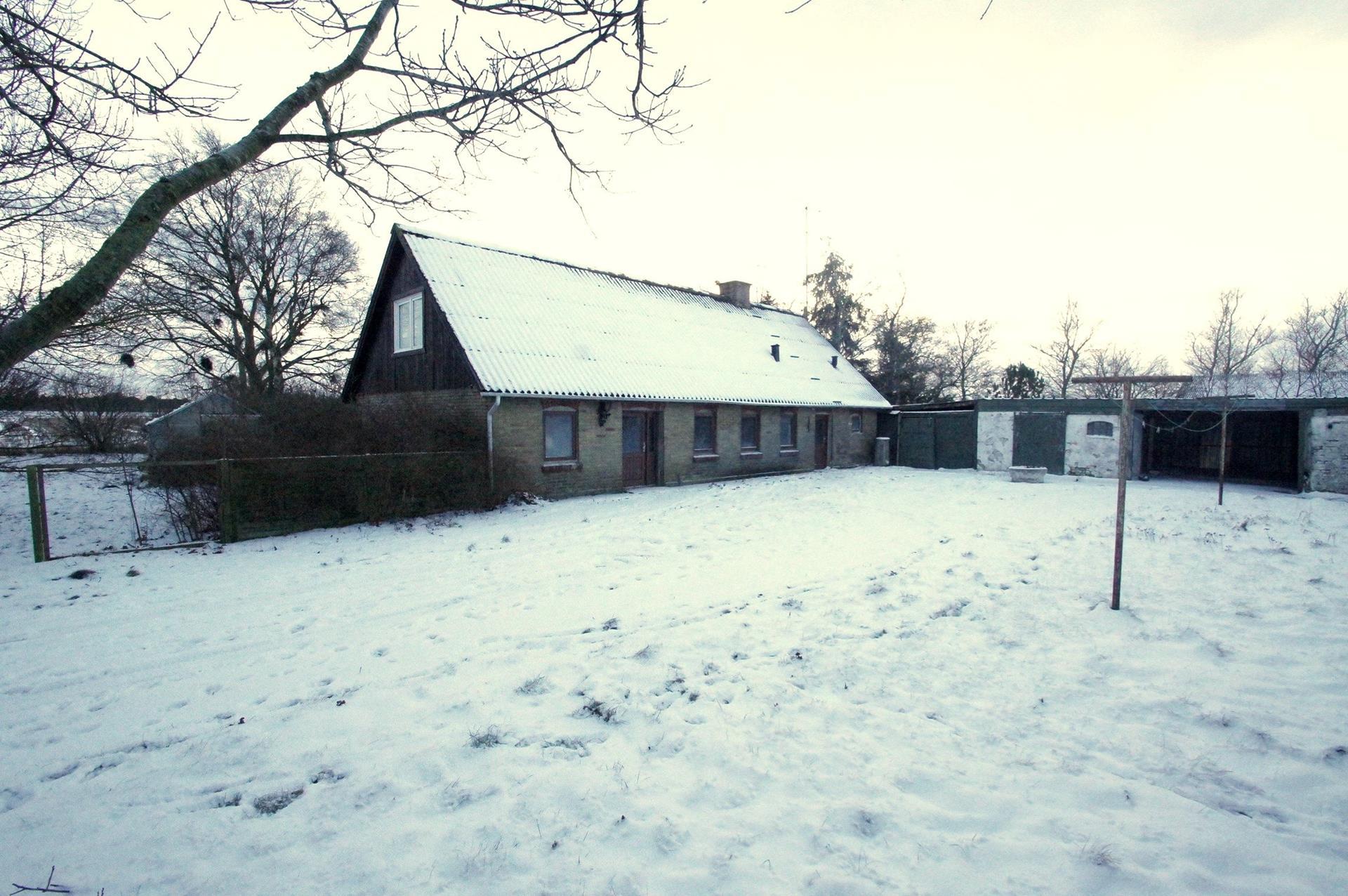 Kvæggård på Kærmindevej i Bindslev - Stuehus