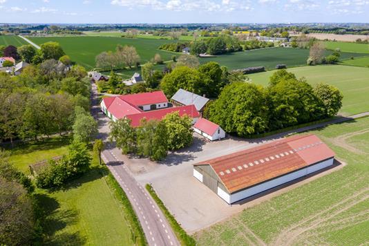 Planteavlsgård på Tvindelstrupvej i Ringsted - Luftfoto