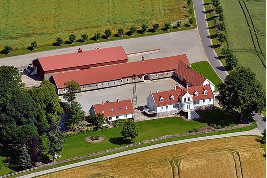 Planteavlsgård på Sønderskovvej i Kolind - Luftfoto