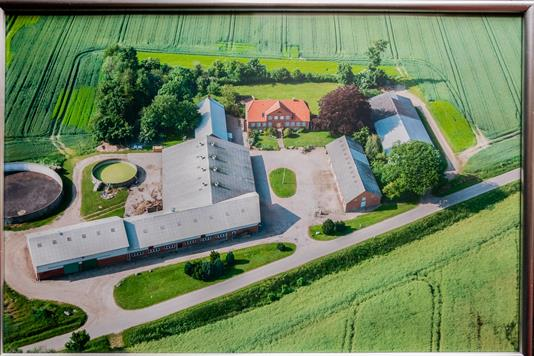 Planteavlsgård på Stokkerhovedvej i Vojens - Luftfoto