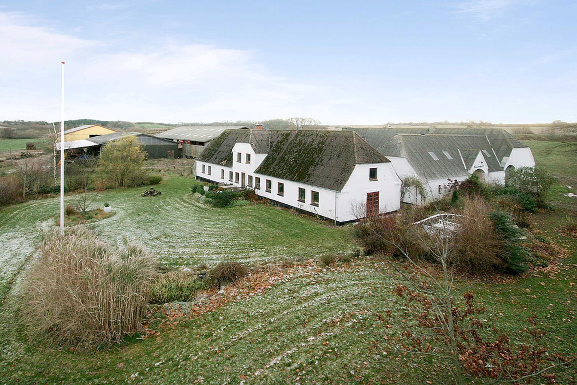 Kvæggård på Karendalsvej i Haarby - Mastefoto